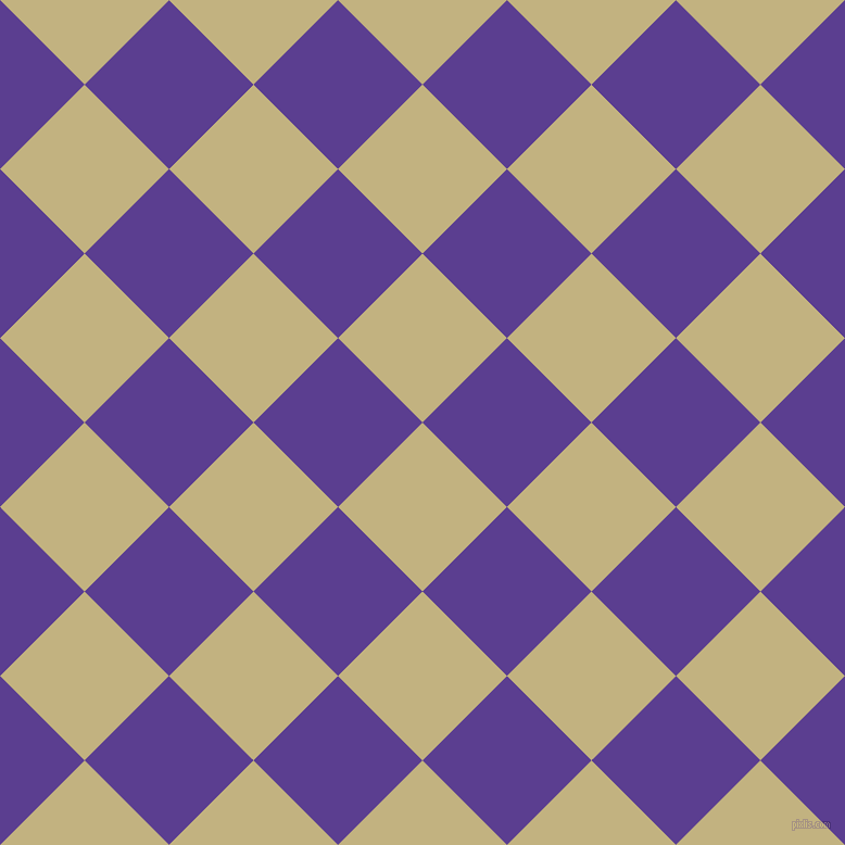 45/135 degree angle diagonal checkered chequered squares checker pattern checkers background, 110 pixel square size, , Ecru and Daisy Bush checkers chequered checkered squares seamless tileable