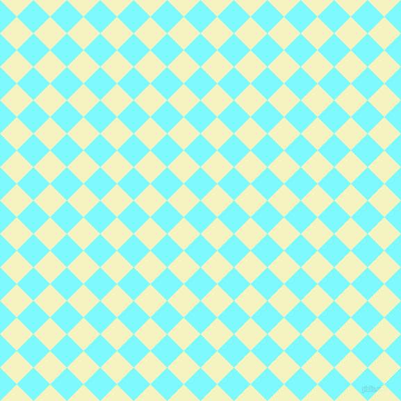 45/135 degree angle diagonal checkered chequered squares checker pattern checkers background, 34 pixel square size, , Electric Blue and Cumulus checkers chequered checkered squares seamless tileable