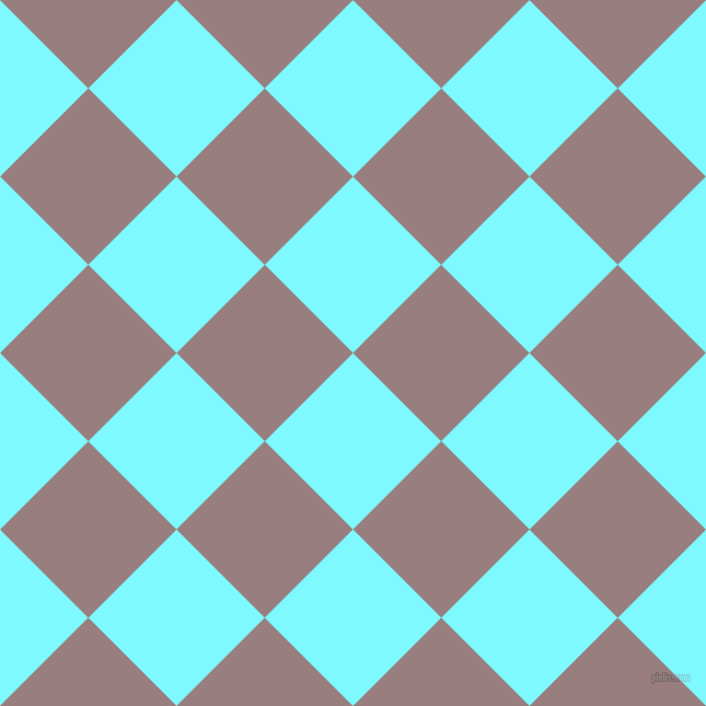 45/135 degree angle diagonal checkered chequered squares checker pattern checkers background, 114 pixel square size, , Electric Blue and Opium checkers chequered checkered squares seamless tileable