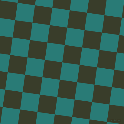 82/172 degree angle diagonal checkered chequered squares checker pattern checkers background, 58 pixel squares size, , Elm and Green Kelp checkers chequered checkered squares seamless tileable