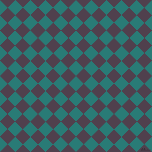 45/135 degree angle diagonal checkered chequered squares checker pattern checkers background, 42 pixel squares size, , Elm and Purple Taupe checkers chequered checkered squares seamless tileable