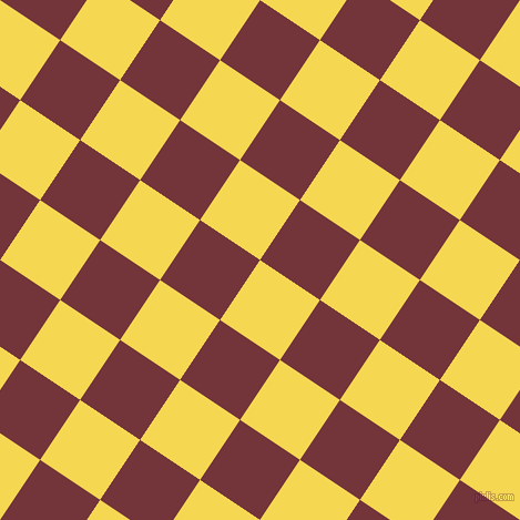 56/146 degree angle diagonal checkered chequered squares checker pattern checkers background, 65 pixel squares size, , Energy Yellow and Merlot checkers chequered checkered squares seamless tileable