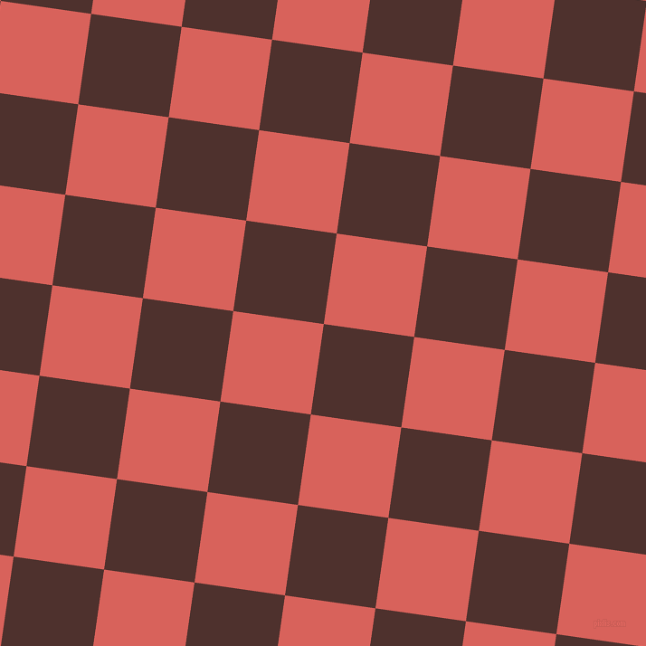 82/172 degree angle diagonal checkered chequered squares checker pattern checkers background, 101 pixel squares size, Espresso and Roman checkers chequered checkered squares seamless tileable
