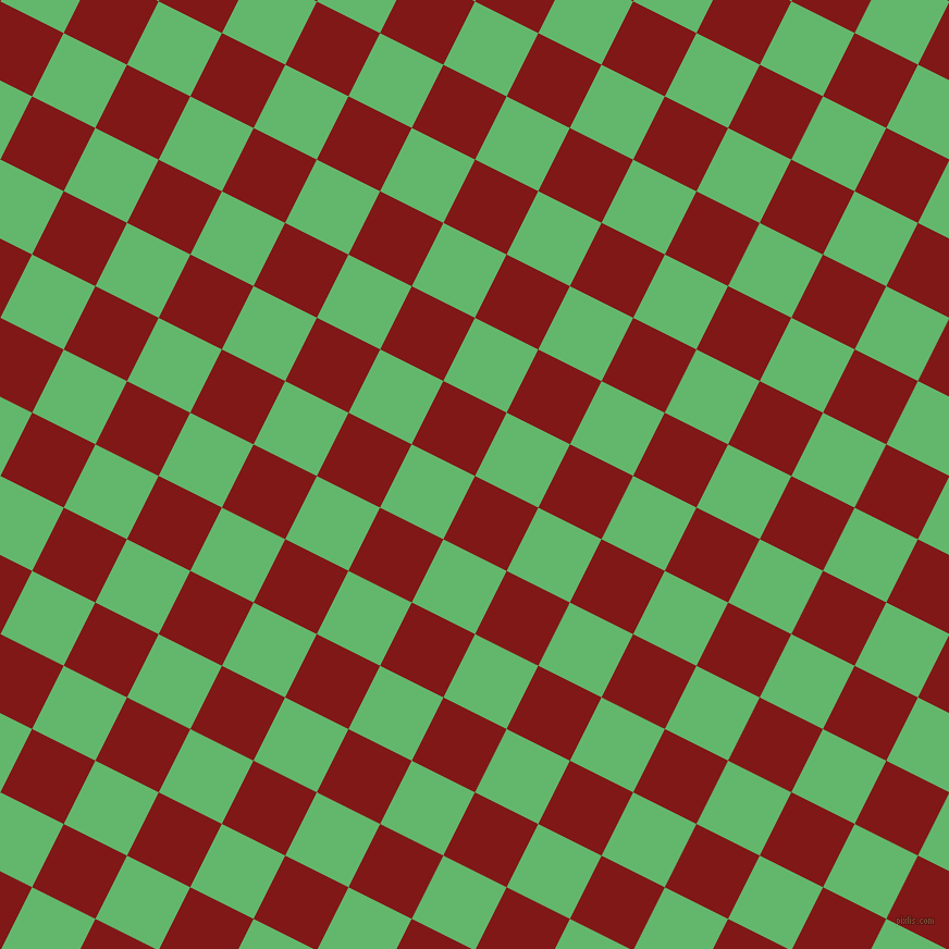63/153 degree angle diagonal checkered chequered squares checker pattern checkers background, 65 pixel square size, , Falu Red and Fern checkers chequered checkered squares seamless tileable