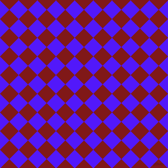 45/135 degree angle diagonal checkered chequered squares checker pattern checkers background, 44 pixel square size, , Falu Red and Han Purple checkers chequered checkered squares seamless tileable