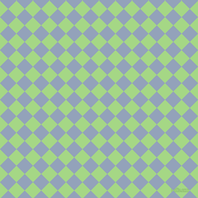 45/135 degree angle diagonal checkered chequered squares checker pattern checkers background, 24 pixel squares size, , Feijoa and Rock Blue checkers chequered checkered squares seamless tileable