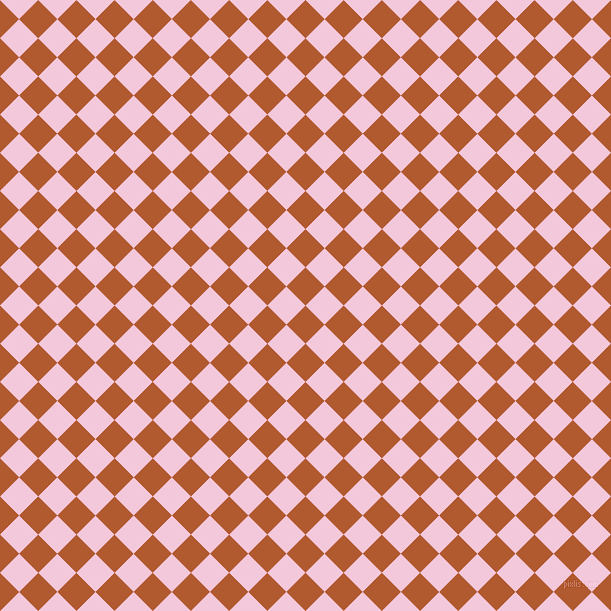 45/135 degree angle diagonal checkered chequered squares checker pattern checkers background, 27 pixel squares size, , Fiery Orange and Classic Rose checkers chequered checkered squares seamless tileable