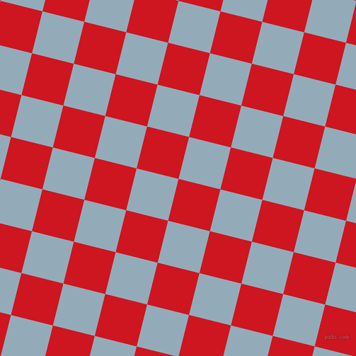 76/166 degree angle diagonal checkered chequered squares checker pattern checkers background, 61 pixel square size, , Fire Engine Red and Nepal checkers chequered checkered squares seamless tileable