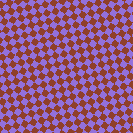 56/146 degree angle diagonal checkered chequered squares checker pattern checkers background, 24 pixel squares size, , Fire and Medium Purple checkers chequered checkered squares seamless tileable