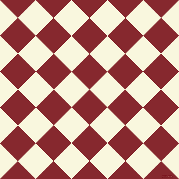 45/135 degree angle diagonal checkered chequered squares checker pattern checkers background, 83 pixel squares size, , Flame Red and Chilean Heath checkers chequered checkered squares seamless tileable