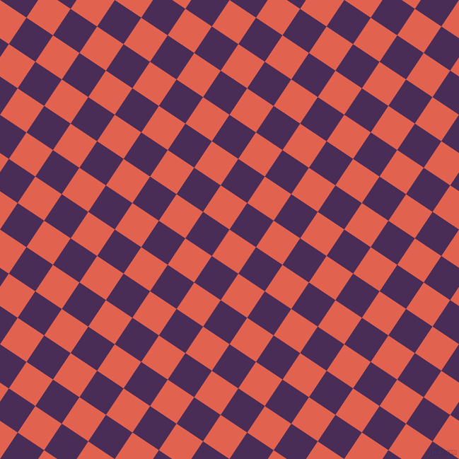 56/146 degree angle diagonal checkered chequered squares checker pattern checkers background, 45 pixel square size, , Flamingo and Scarlet Gum checkers chequered checkered squares seamless tileable