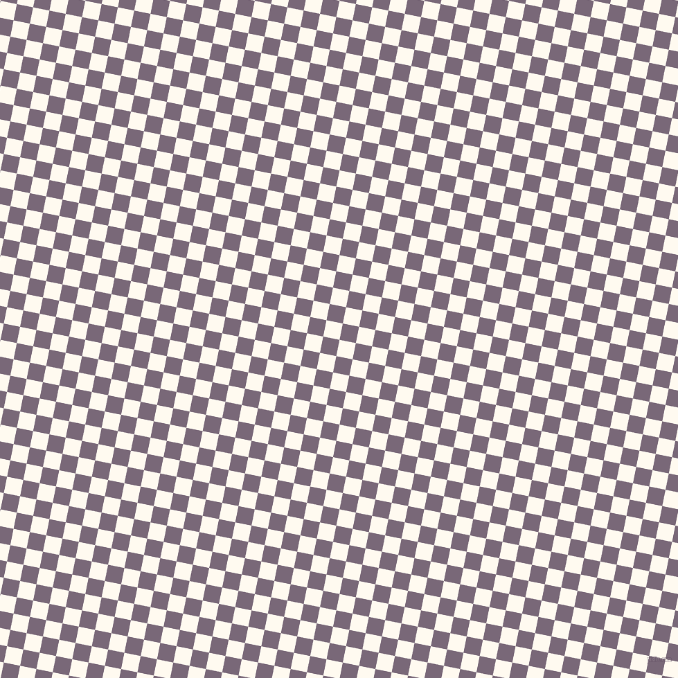 79/169 degree angle diagonal checkered chequered squares checker pattern checkers background, 24 pixel square size, , Floral White and Old Lavender checkers chequered checkered squares seamless tileable