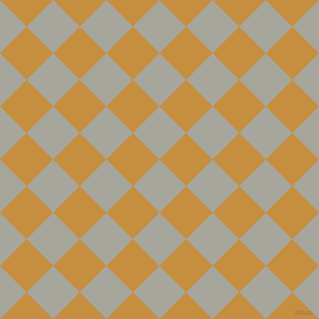 45/135 degree angle diagonal checkered chequered squares checker pattern checkers background, 76 pixel square size, , Foggy Grey and Anzac checkers chequered checkered squares seamless tileable
