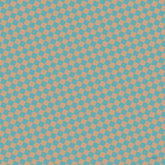 63/153 degree angle diagonal checkered chequered squares checker pattern checkers background, 20 pixel squares size, , Fountain Blue and Cameo checkers chequered checkered squares seamless tileable