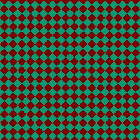 45/135 degree angle diagonal checkered chequered squares checker pattern checkers background, 21 pixel square size, , Free Speech Aquamarine and Maroon checkers chequered checkered squares seamless tileable