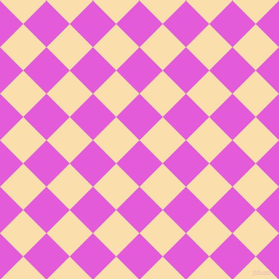 45/135 degree angle diagonal checkered chequered squares checker pattern checkers background, 64 pixel squares size, , Free Speech Magenta and Peach-Yellow checkers chequered checkered squares seamless tileable