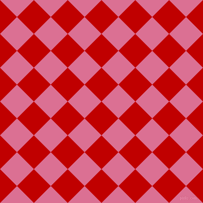 45/135 degree angle diagonal checkered chequered squares checker pattern checkers background, 49 pixel squares size, , Free Speech Red and Pale Violet Red checkers chequered checkered squares seamless tileable