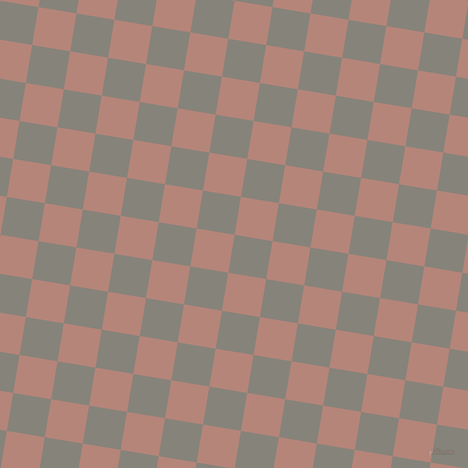 81/171 degree angle diagonal checkered chequered squares checker pattern checkers background, 55 pixel square size, , Friar Grey and Brandy Rose checkers chequered checkered squares seamless tileable