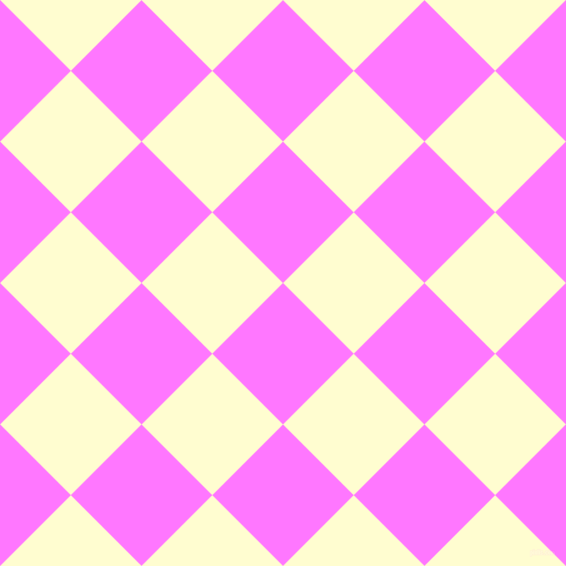 45/135 degree angle diagonal checkered chequered squares checker pattern checkers background, 141 pixel squares size, , Fuchsia Pink and Cream checkers chequered checkered squares seamless tileable