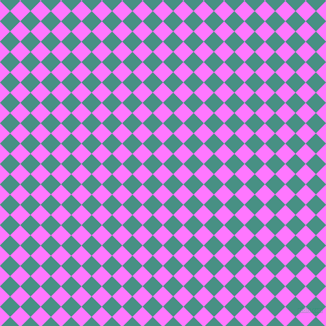 45/135 degree angle diagonal checkered chequered squares checker pattern checkers background, 21 pixel squares size, , Fuchsia Pink and Lochinvar checkers chequered checkered squares seamless tileable