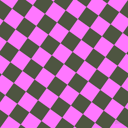 54/144 degree angle diagonal checkered chequered squares checker pattern checkers background, 51 pixel squares size, , Fuchsia Pink and Lunar Green checkers chequered checkered squares seamless tileable