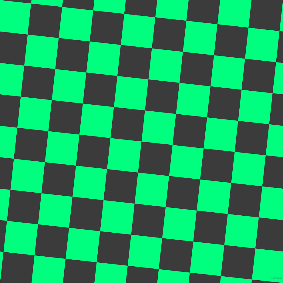 84/174 degree angle diagonal checkered chequered squares checker pattern checkers background, 103 pixel square size, , Fuscous Grey and Spring Green checkers chequered checkered squares seamless tileable