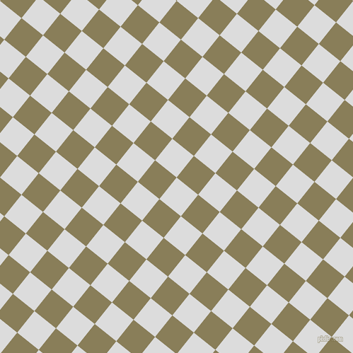 51/141 degree angle diagonal checkered chequered squares checker pattern checkers background, 39 pixel squares size, , Gainsboro and Clay Creek checkers chequered checkered squares seamless tileable