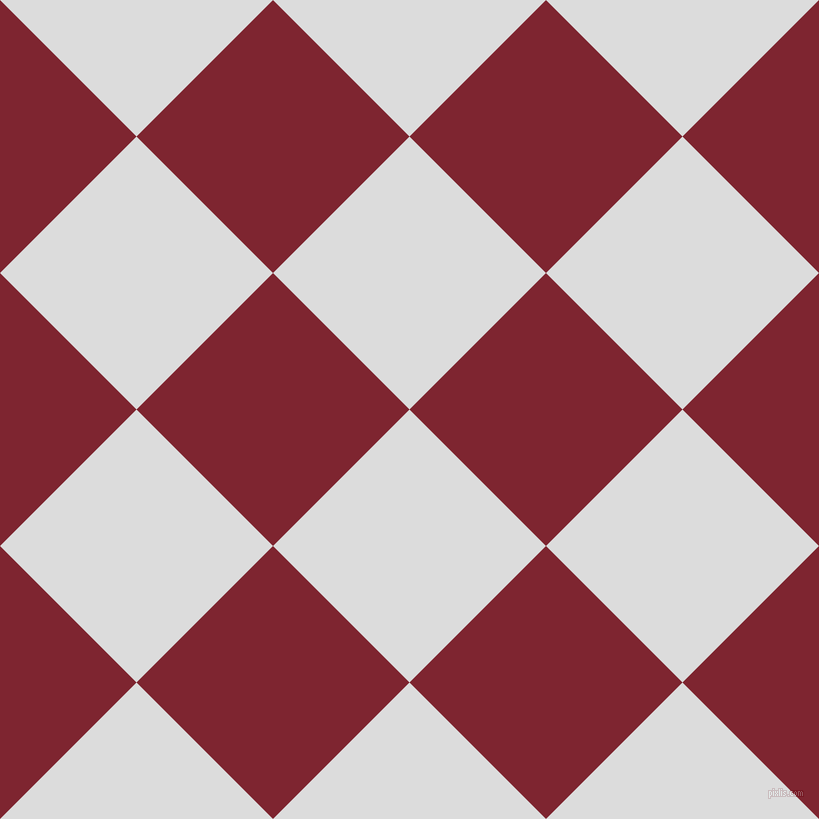45/135 degree angle diagonal checkered chequered squares checker pattern checkers background, 193 pixel squares size, , Gainsboro and Scarlett checkers chequered checkered squares seamless tileable