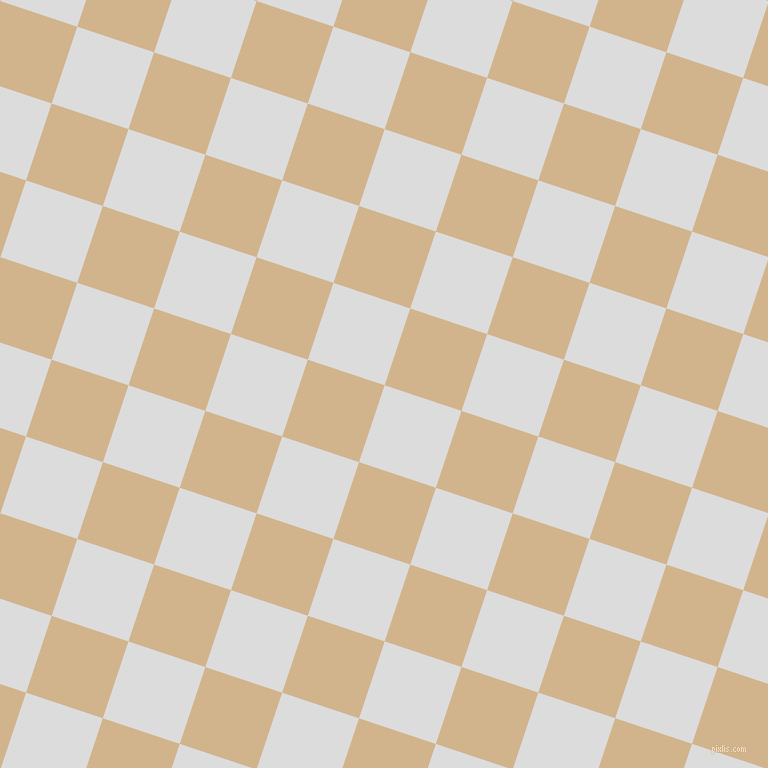 72/162 degree angle diagonal checkered chequered squares checker pattern checkers background, 81 pixel squares size, , Gainsboro and Tan checkers chequered checkered squares seamless tileable