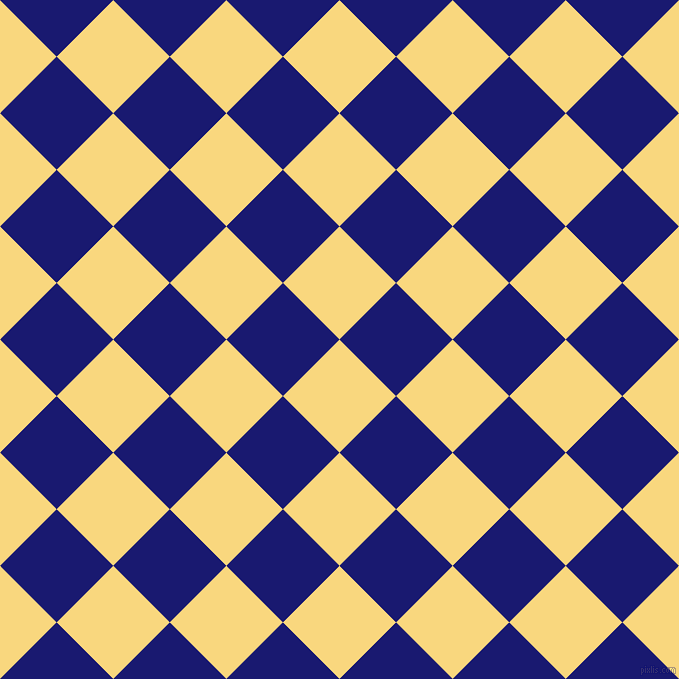 45/135 degree angle diagonal checkered chequered squares checker pattern checkers background, 80 pixel squares size, , Golden Glow and Midnight Blue checkers chequered checkered squares seamless tileable