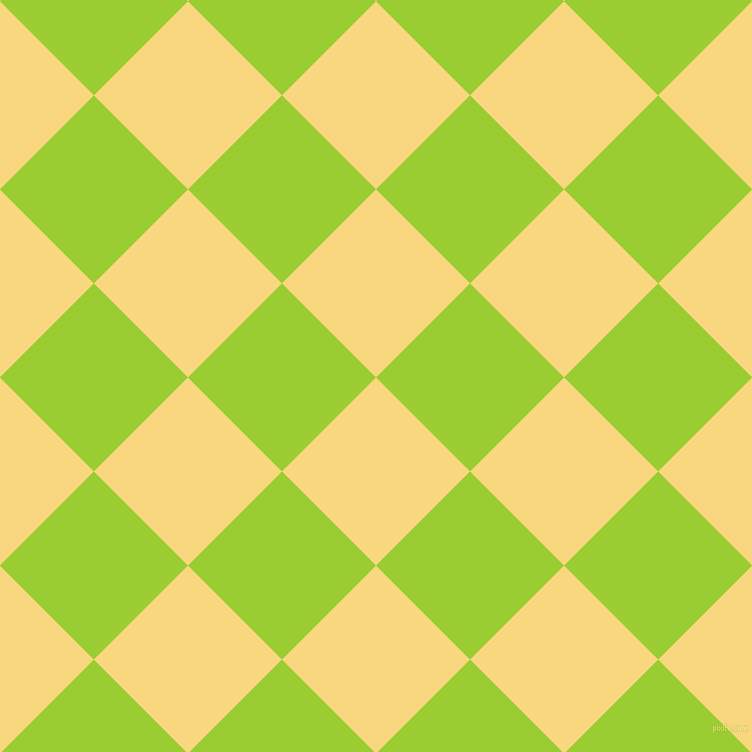 45/135 degree angle diagonal checkered chequered squares checker pattern checkers background, 133 pixel square size, , Golden Glow and Yellow Green checkers chequered checkered squares seamless tileable