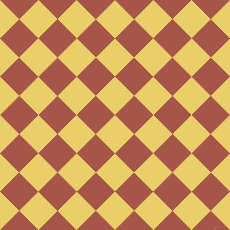 45/135 degree angle diagonal checkered chequered squares checker pattern checkers background, 94 pixel square size, , Golden Sand and Crail checkers chequered checkered squares seamless tileable