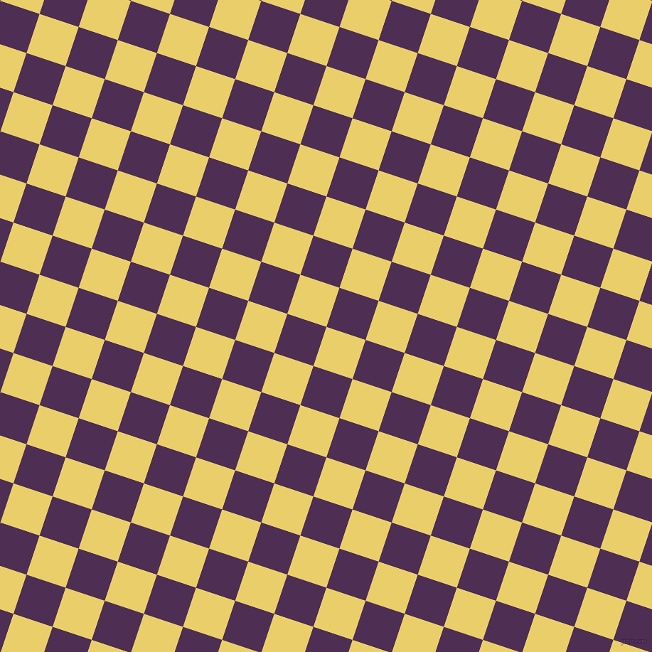 Golden Sand And Hot Purple Checkers Chequered Checkered