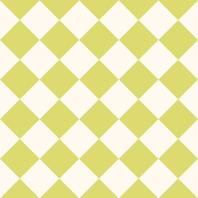 45/135 degree angle diagonal checkered chequered squares checker pattern checkers background, 114 pixel square size, , Goldenrod and Floral White checkers chequered checkered squares seamless tileable