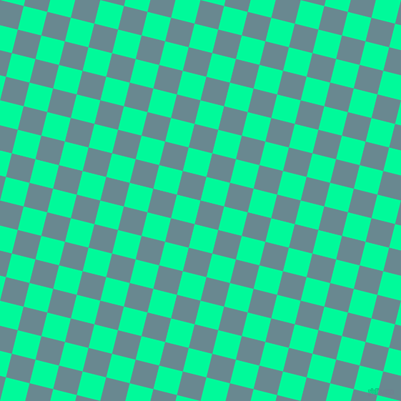 76/166 degree angle diagonal checkered chequered squares checker pattern checkers background, 34 pixel square size, , Gothic and Medium Spring Green checkers chequered checkered squares seamless tileable