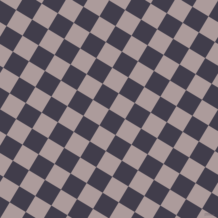 59/149 degree angle diagonal checkered chequered squares checker pattern checkers background, 65 pixel squares size, , Grape and Dusty Grey checkers chequered checkered squares seamless tileable