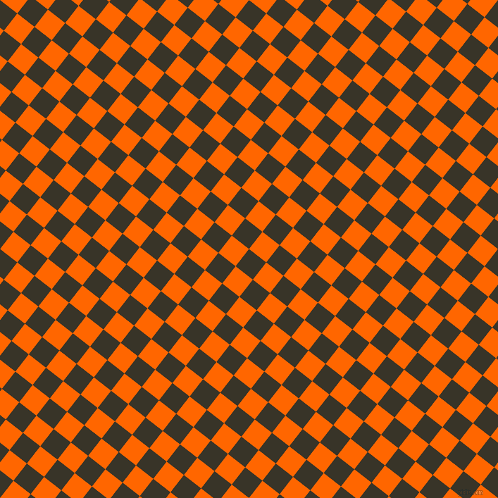 52/142 degree angle diagonal checkered chequered squares checker pattern checkers background, 31 pixel squares size, , Graphite and Safety Orange checkers chequered checkered squares seamless tileable