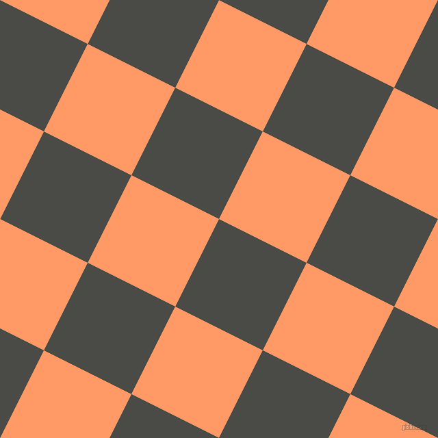 63/153 degree angle diagonal checkered chequered squares checker pattern checkers background, 143 pixel square size, , Gravel and Atomic Tangerine checkers chequered checkered squares seamless tileable