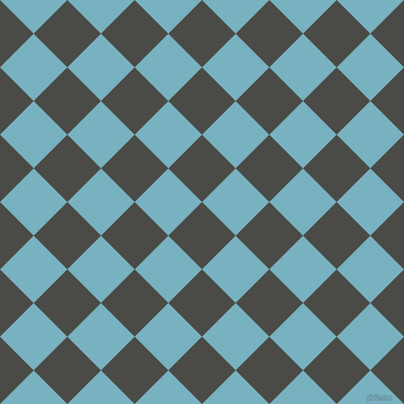 45/135 degree angle diagonal checkered chequered squares checker pattern checkers background, 68 pixel squares size, , Gravel and Glacier checkers chequered checkered squares seamless tileable