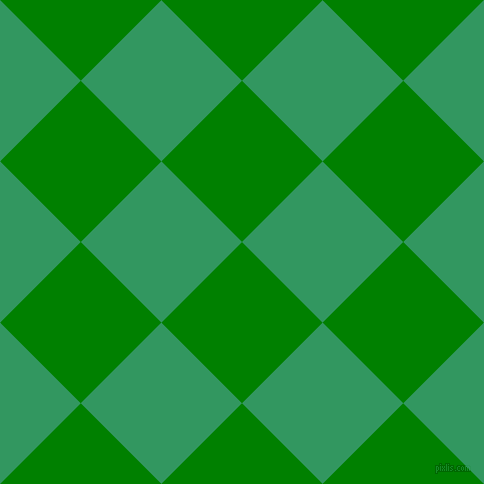 45/135 degree angle diagonal checkered chequered squares checker pattern checkers background, 114 pixel square size, , Green and Eucalyptus checkers chequered checkered squares seamless tileable