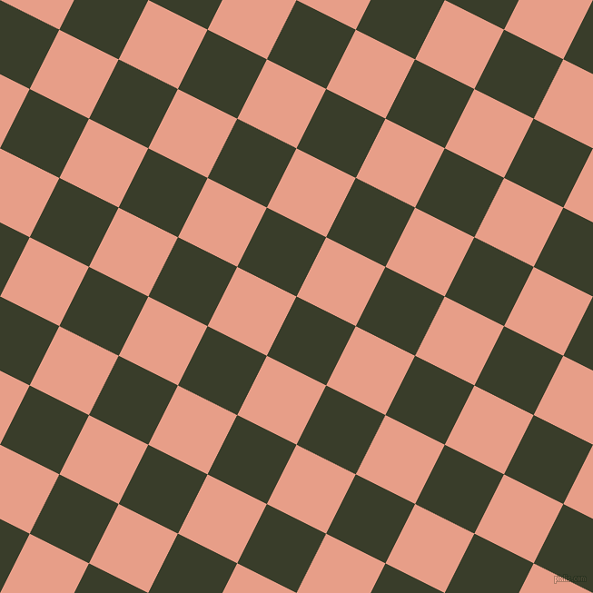 63/153 degree angle diagonal checkered chequered squares checker pattern checkers background, 73 pixel square size, , Green Kelp and Tonys Pink checkers chequered checkered squares seamless tileable