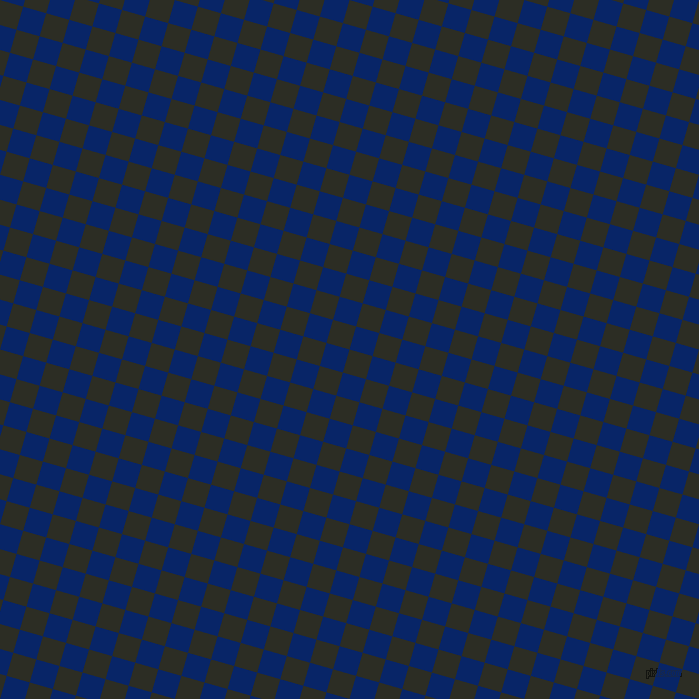 74/164 degree angle diagonal checkered chequered squares checker pattern checkers background, 24 pixel squares size, Green Waterloo and Sapphire checkers chequered checkered squares seamless tileable