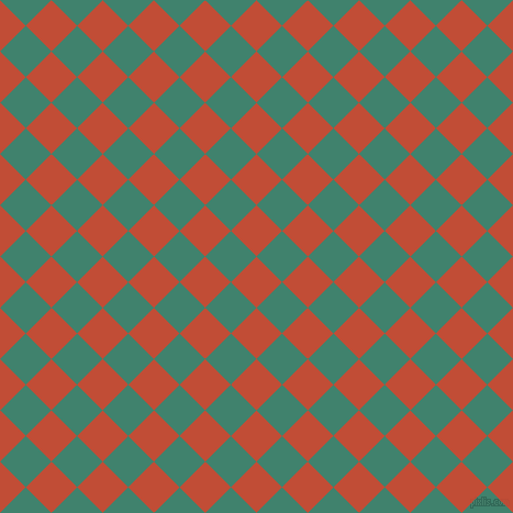 45/135 degree angle diagonal checkered chequered squares checker pattern checkers background, 33 pixel square size, , Grenadier and Viridian checkers chequered checkered squares seamless tileable