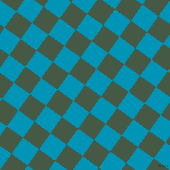 54/144 degree angle diagonal checkered chequered squares checker pattern checkers background, 66 pixel square size, , Grey-Asparagus and Bondi Blue checkers chequered checkered squares seamless tileable