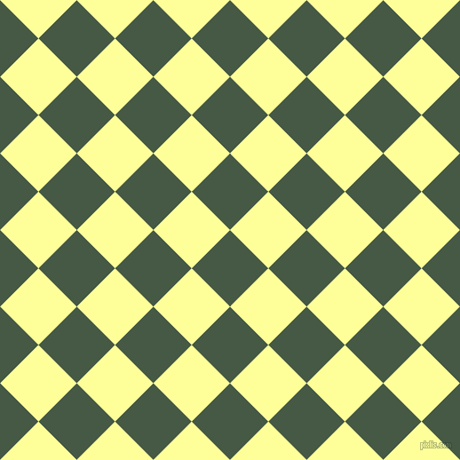45/135 degree angle diagonal checkered chequered squares checker pattern checkers background, 61 pixel squares size, , Grey-Asparagus and Canary checkers chequered checkered squares seamless tileable