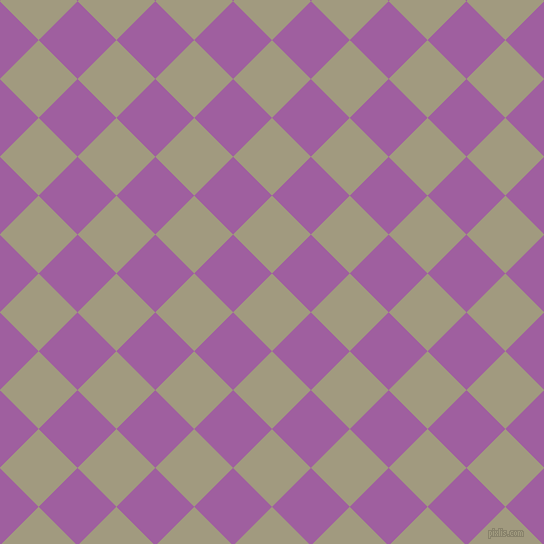 45/135 degree angle diagonal checkered chequered squares checker pattern checkers background, 55 pixel square size, , Grey Olive and Violet Blue checkers chequered checkered squares seamless tileable