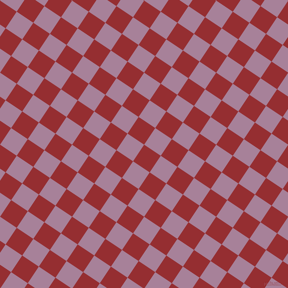 56/146 degree angle diagonal checkered chequered squares checker pattern checkers background, 41 pixel square size, , Guardsman Red and Bouquet checkers chequered checkered squares seamless tileable