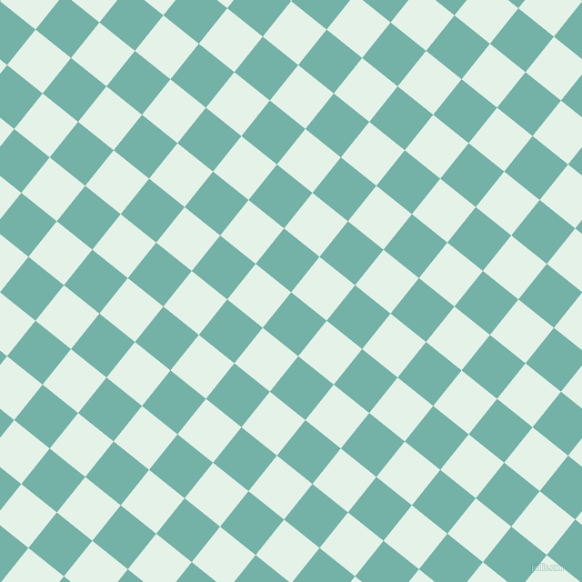 51/141 degree angle diagonal checkered chequered squares checker pattern checkers background, 50 pixel square size, , Gulf Stream and Polar checkers chequered checkered squares seamless tileable