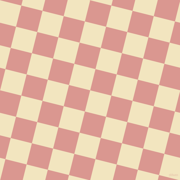 76/166 degree angle diagonal checkered chequered squares checker pattern checkers background, 87 pixel square size, , Half Colonial White and Petite Orchid checkers chequered checkered squares seamless tileable