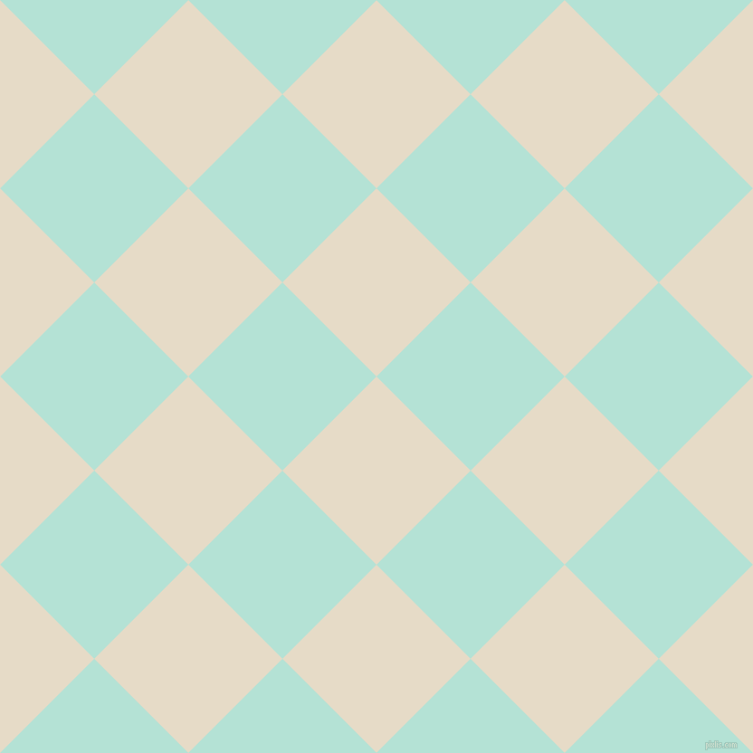 45/135 degree angle diagonal checkered chequered squares checker pattern checkers background, 147 pixel squares size, , Half Spanish White and Cruise checkers chequered checkered squares seamless tileable
